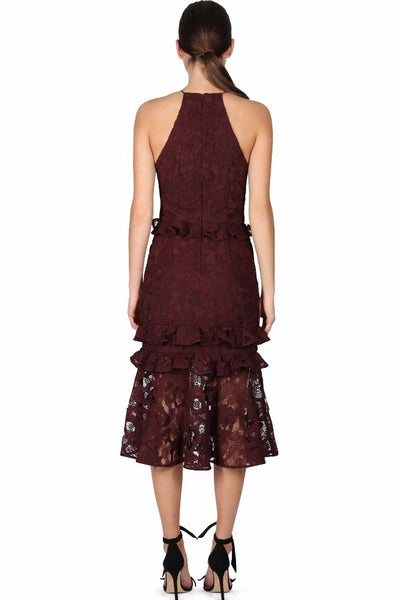Mahogany Lace Midi Dress by Cooper Street - RENTAL