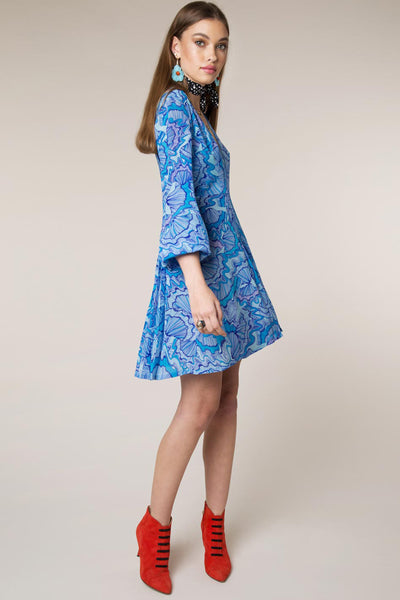 Psychedellic Shell Mini Dress by Rixo London - RENTAL