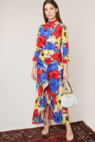 Lucy Diana Floral Print Dress by RIXO