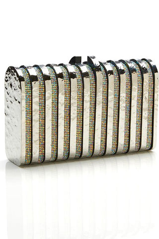Rodeo Clutch in Silver by Emm Kuo NY