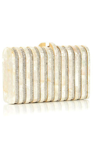 Rodeo Clutch in Pearl by Emm Kuo NY