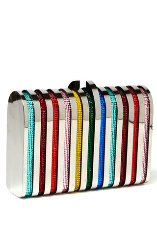 Rodeo Clutch in Rainbow by Emm Kuo NY - RENTAL