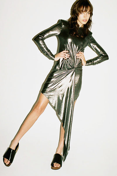 Hadassah Metallic Dress by Ronny Kobo - RENTAL