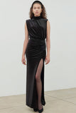 Venette Velvet Slit Dress by Ronny Kobo - RENTAL