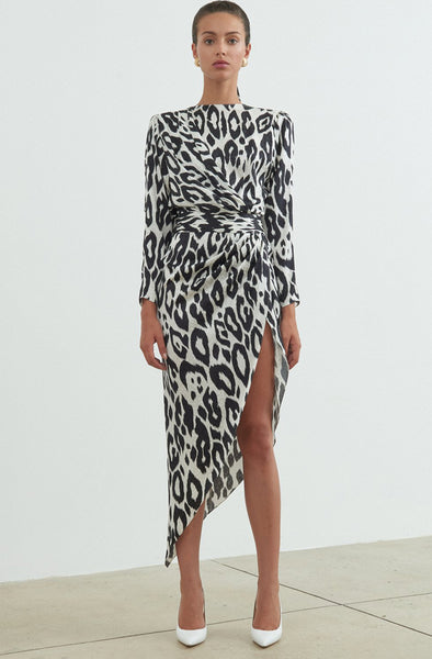 Ronny Kobo Jade Dress Leopard Print