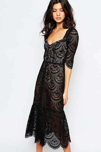Rosalita Midi Dress by For Love and Lemons - RENTAL