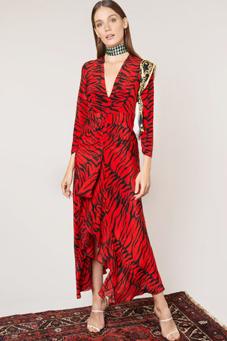 Rose Red Tiger Dress Rixo