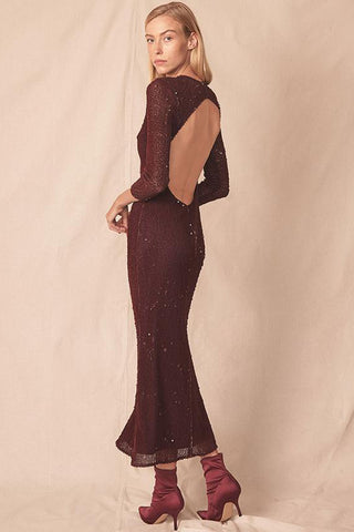 Ryann Open Back Dress By Allen Schwartz rental