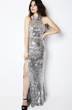 Schiffer Silver Sequin Gown by Bariano - RENTAL