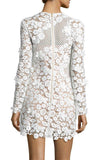 Snow White 3D Floral Lace Shift Dress by Self Portrait - RENTAL