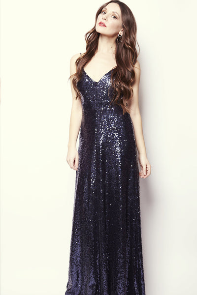Diana Sequin Backless Gown - RENTAL