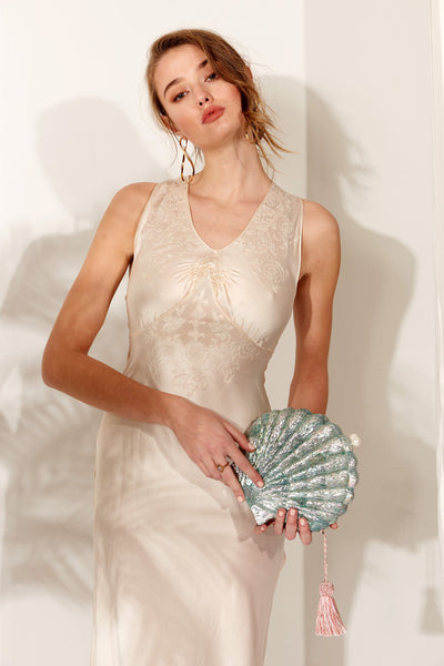 Le Sireneuse Shell Bag in Sea Foam by Emm Kuo NY - RENTAL