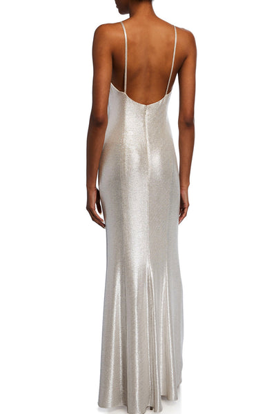 champagne silver slipdress gown rental toronto
