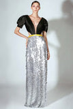Silver Sequin Gown by Beside Couture