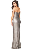 Silver Sequin Gown Rental Canada