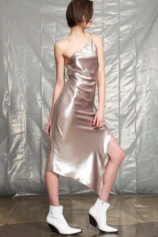 Vero Silver Slip Dress by Allen Schwartz
