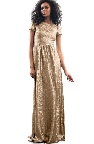 Gold sequin gown - rental - dress rental Canada