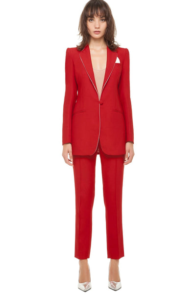 Red suit Hebe Studio - Toronto Dress Rental