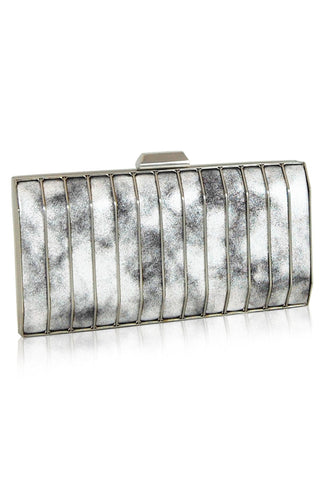 Sonia silver clutch Inge Christopher