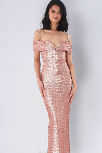 Rosegold bridesmaid dress - rental