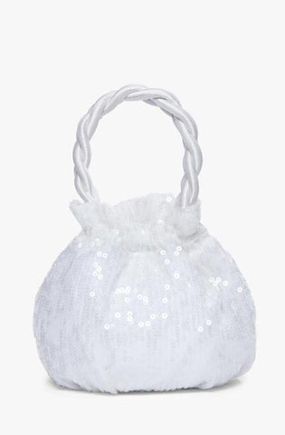 Staud Grace Bag White Sequin