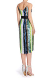 Solange Striped Sequin Wrap Dress by Aidan Mattox - RENTAL