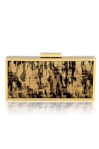 Sydney Gold and Black Clutch by Inge Christopher - RENTAL