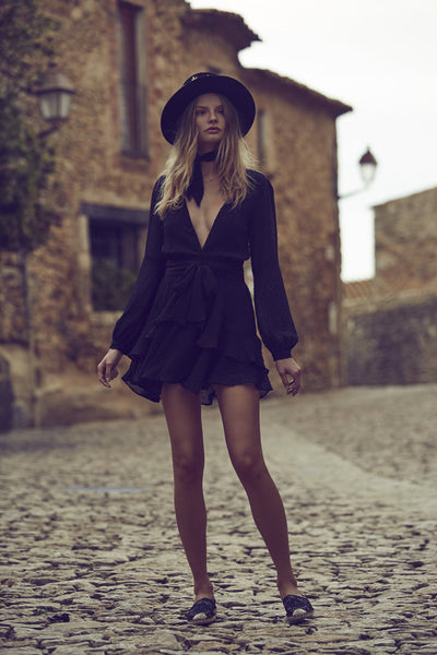 Tatra Dress in Black by For Love and Lemons