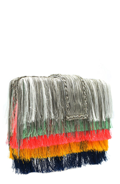 Simitri rainbow ombre clutch