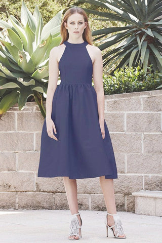 The Last Word Dress in Navy by Pink Stitch - RENTAL