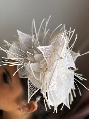 White fascinator rental Toronto