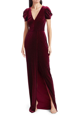 Valerie Velvet Studded Dress by ML Monique Lhuillier - RENTAL
