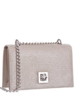 White flat mesh clutch whiting and davis bags