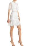 white dress ML Monique L'Hullier