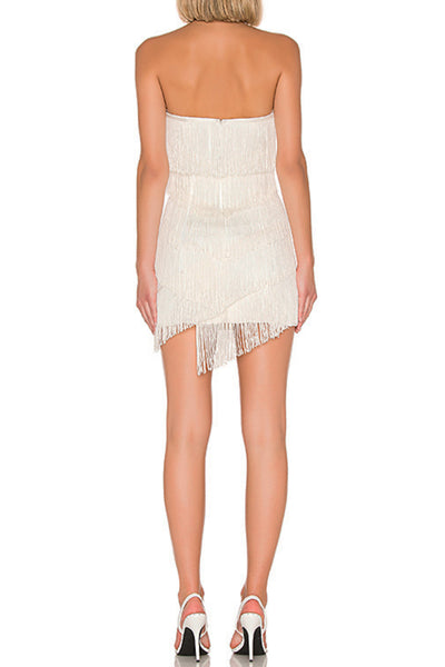 White Fringe Mini Dress The Fitzroy