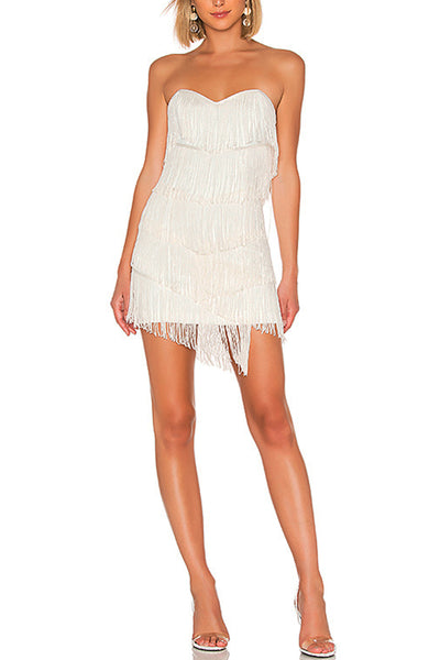 Sienna Fringe Mini Dress by NBD - RENTAL