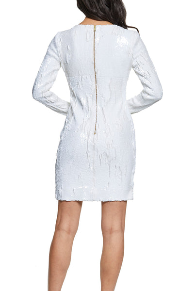 Kurkova White Sequin Mini Dress by Dress The Population - RENTAL