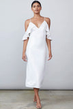 Audrina Off The Shoulder White Sequin Dress Allen Schwartz