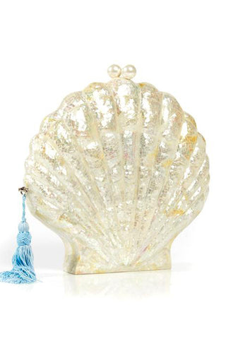 Le Sirenuse Sea Shell Clutch Bag by Emm Kuo