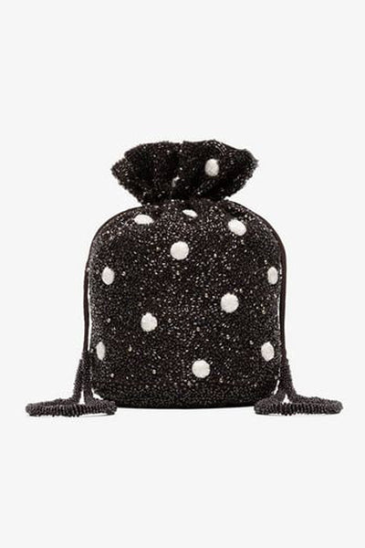 Ganni wintour beaded bucket bag