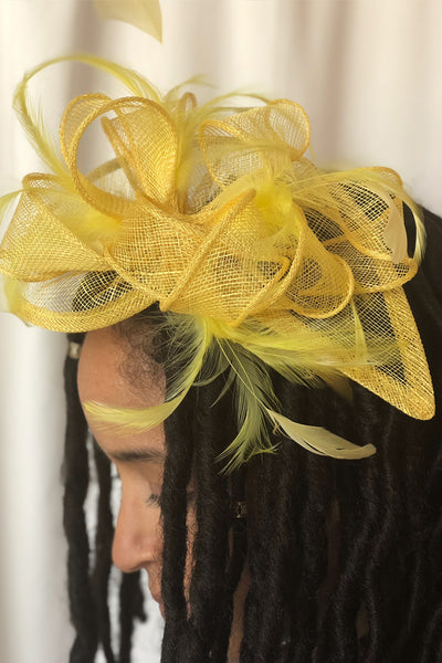 Ray of Sunshine Fascinator - RENTAL