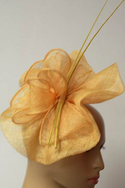 Magpie Mustard Yellow Fascinator - RENTAL