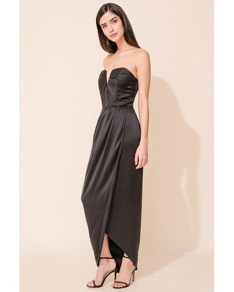 Silk drape black dress by Yumi Kim Dress Rentals Canada