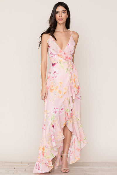 Floral wrap dress by Yumi Kim - Rental Dresses Canada