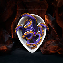 Load image into Gallery viewer, Bathing Lavender & Gold Octopus Sculpture