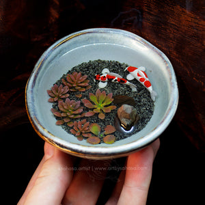 2 Miniature Koi Ponds (Matching Pair) 85mm