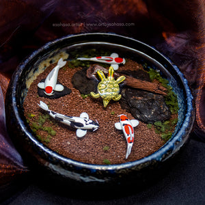 Harmony XIII - 100mm Miniature Koi Pond
