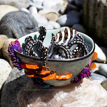 Load image into Gallery viewer, JUNE - Rainbow Reef & Larger Pacific Striped Octopus Sculpture (OOAK)