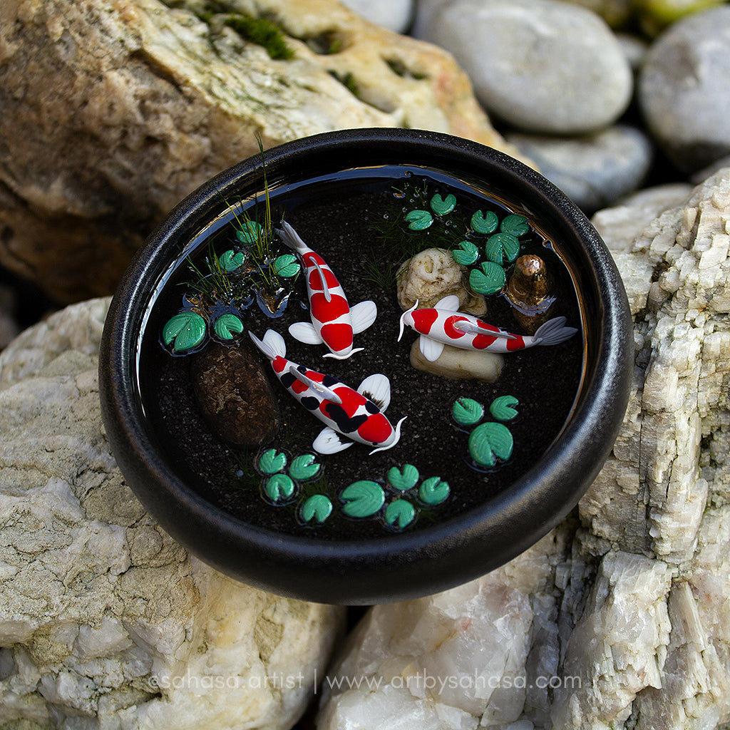 Harmony XXII - 100mm Miniature Koi Pond