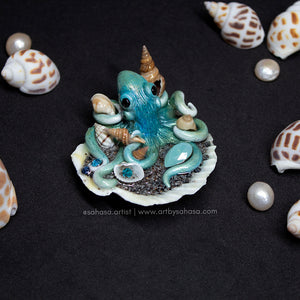 PACIFIC BLUE - Shelltopus - Octopus Sculpture